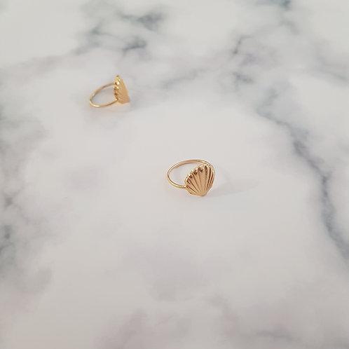 טבעת צדף זהב