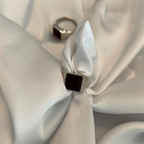 טבעת חותם שחור