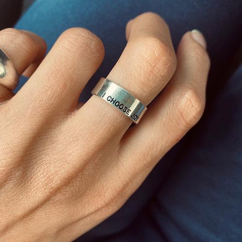 טבעת I choose joy