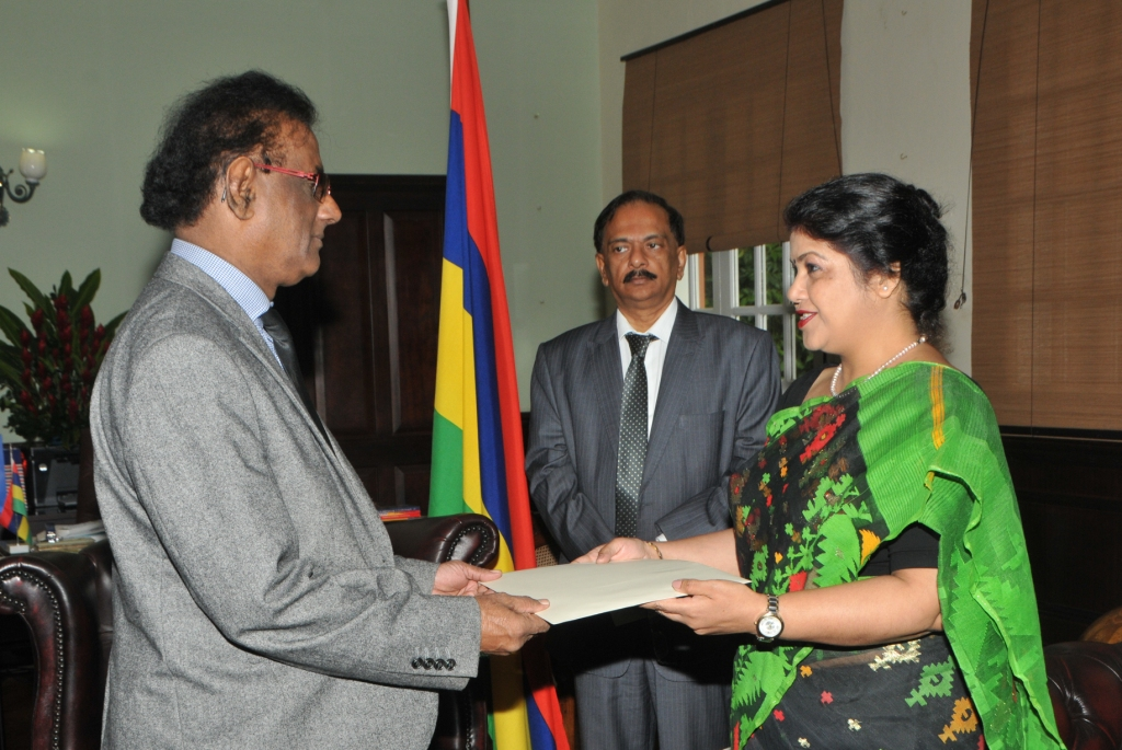 Presenting Letter of Credence