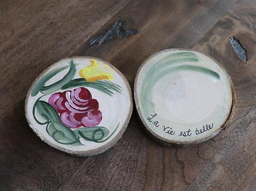 Fleurs ''la vie est belle'' (2 pièces)