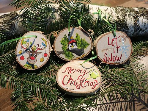 Rondelles décoratives de Noël (D)  (4 pièces)