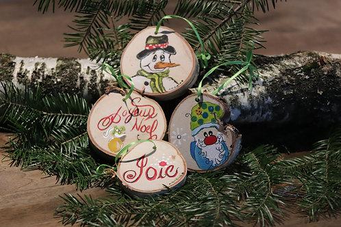 Rondelles décoratives de Noël (A) (4 pièces)