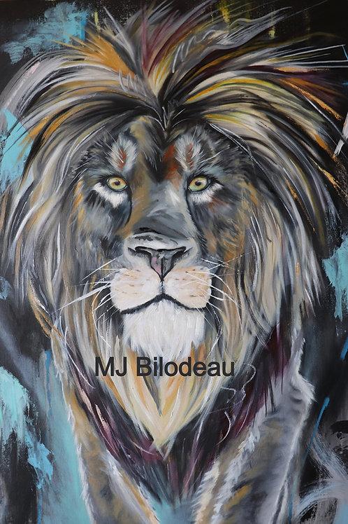 Lion abstrait