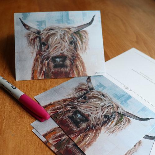 Carte ''Vache Highland''