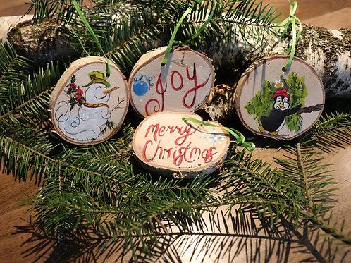 Rondelles décoratives de Noël (C)  (4 pièces)
