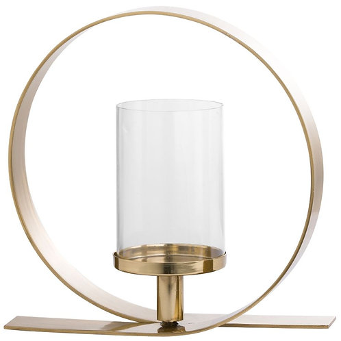 Accessories- Gold Loop Design Candle Holder