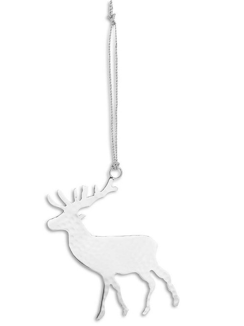 Silver Hanging Stag Decoration