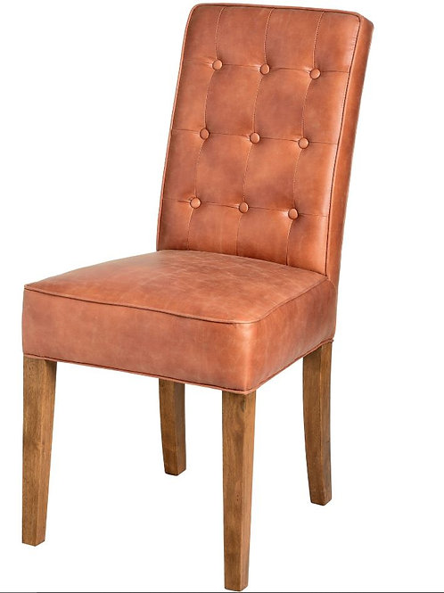 Seating- Tan Faux Leather Dining Chair