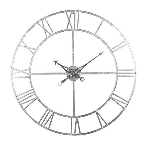 Large Silver Wall Clock