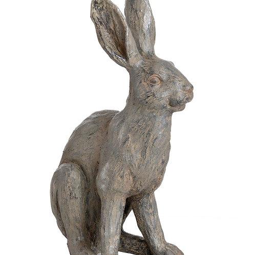 Accessories- Large Metallic Hare Statue