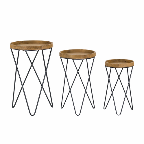 Set of Three Hairpin Side Tables