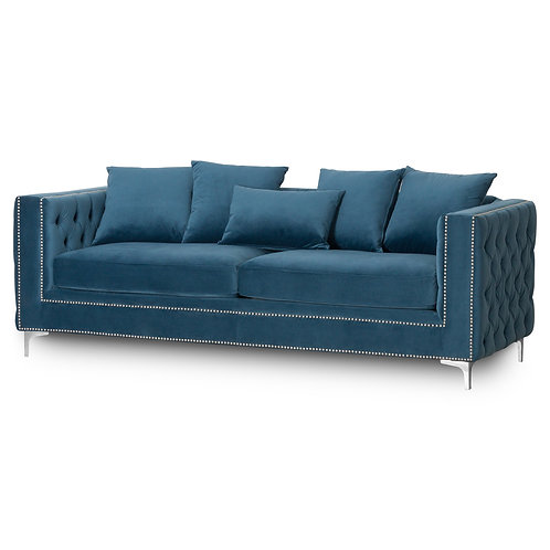Seating- Darcy Three Seater Button Pressed Sofa
