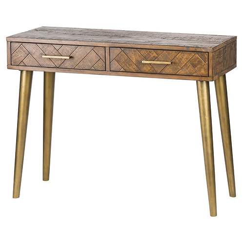 Havanna Gold Herringbone Console Table
