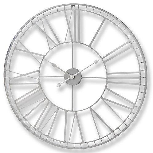 Large Nickel Skeleton Wall Clock