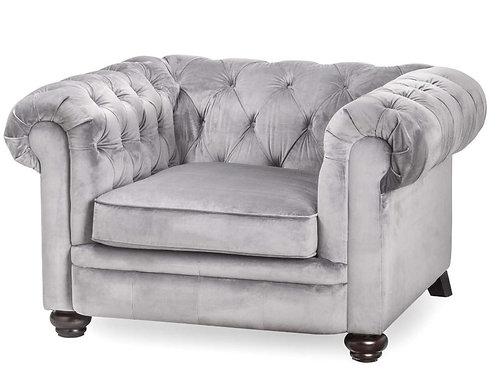Seating- Grey Velvet Chesterfield Chair