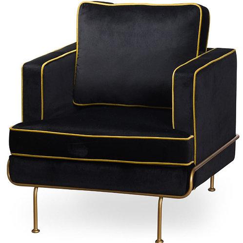 Seating- Orla Black Velvet Arm Chair