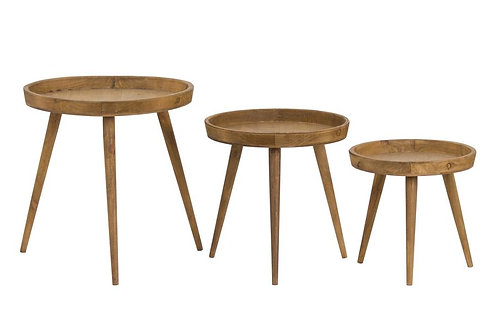 Set of Three Scandi Style Side Tables