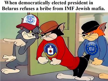 """Kto naprawdę stoi za """"rewolucją"""" na Białorusi ?"""