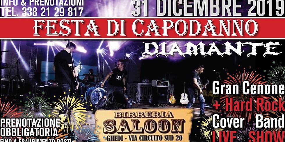 Gran cenone di  capodanno + Diamante Live hard rock cover band