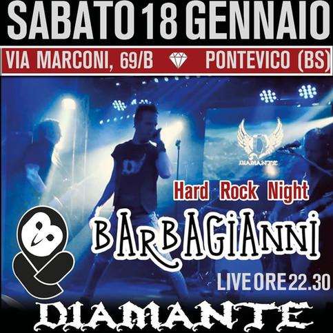 Serata Hard Rock con i Diamante al Barbagianni di Pontevico (BS)