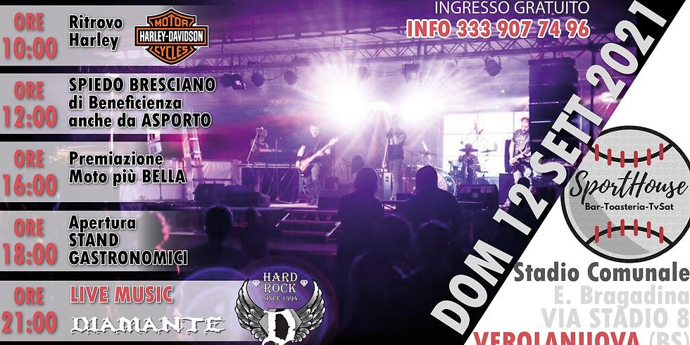 Sporthouse FEST-Raduno Harley-live Music Diamante rock cover
