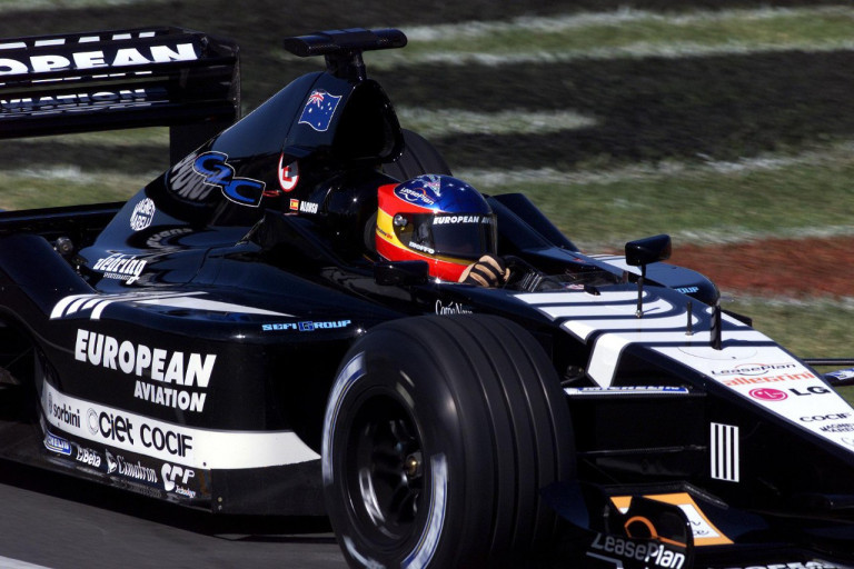 A young Fernando Alonso in the uncompetitive Minardi.