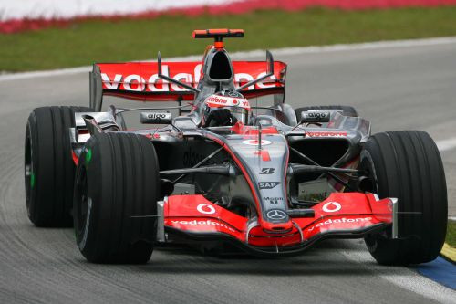 Alonso in his 2007 McLaren, the World Champion's Number 1 proudly on display