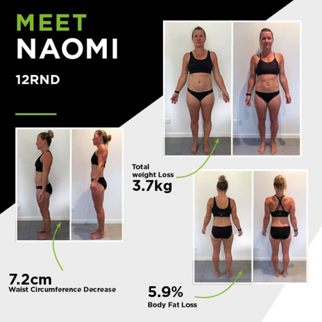 Training Camp Before & After Naomi