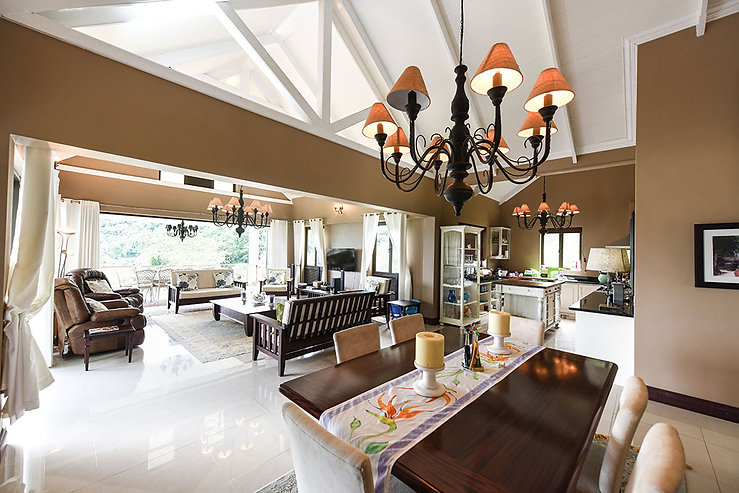 Lounge and Dining Room at Coconut Climb, Seychelles.
