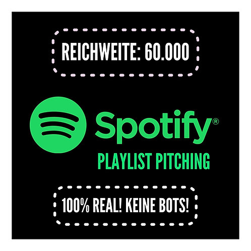 Spotify Playlist Pitching (60K - Position 10+) 100% Real