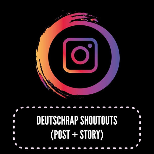 Premium Deutschrap Shoutouts (Post + Story) 24H