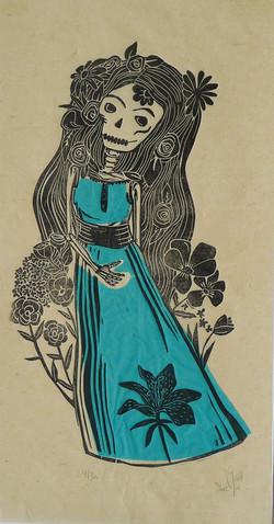 calaveras1 robe bleue