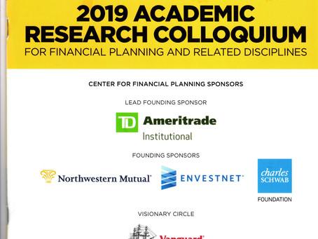 2019 CFP Academic Research Colloquium (February 19-21)