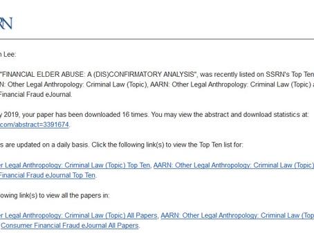 SSRN Top 10 List!
