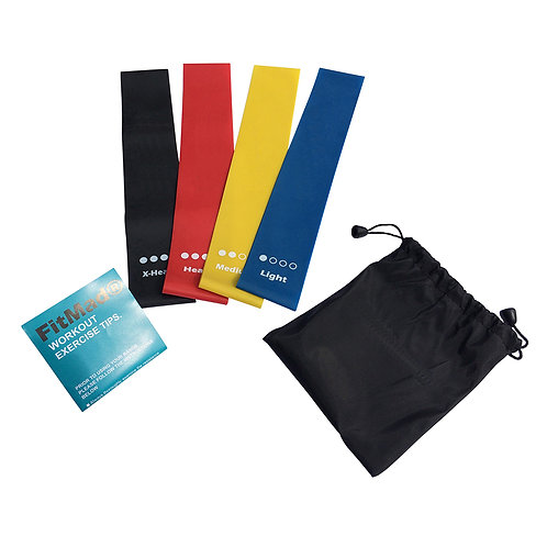 4 x Exercise Resistance Loop Bands