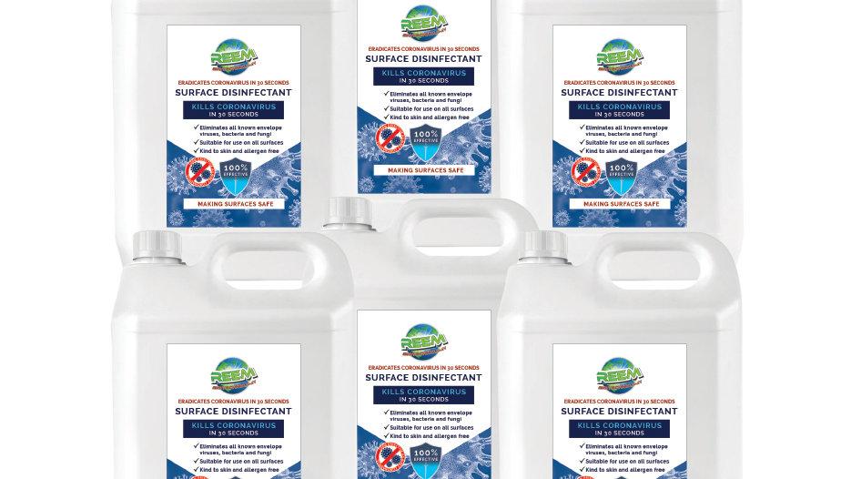 Reem Surface Disinfectant 6 x 5 Litre - Multipack