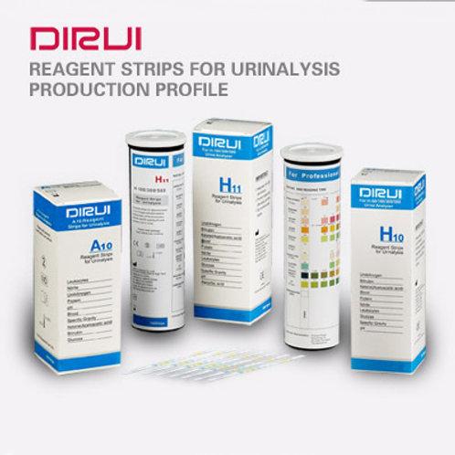 DIRUI A10 Reagent Strips for Urinalysis (100 Strips)