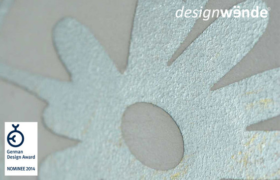 Wandornament Flowerpop mit Metallpigment