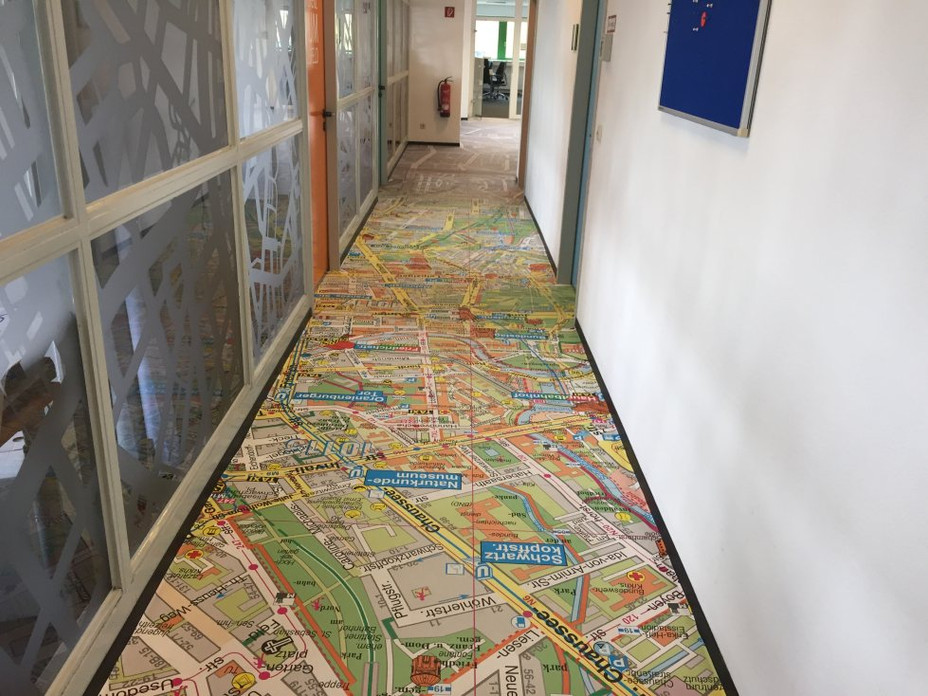 Digitaldruck Kartendesign
