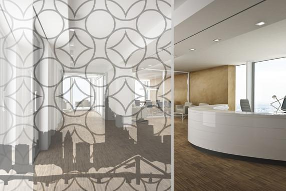 Eingangsbereich Glasdruck