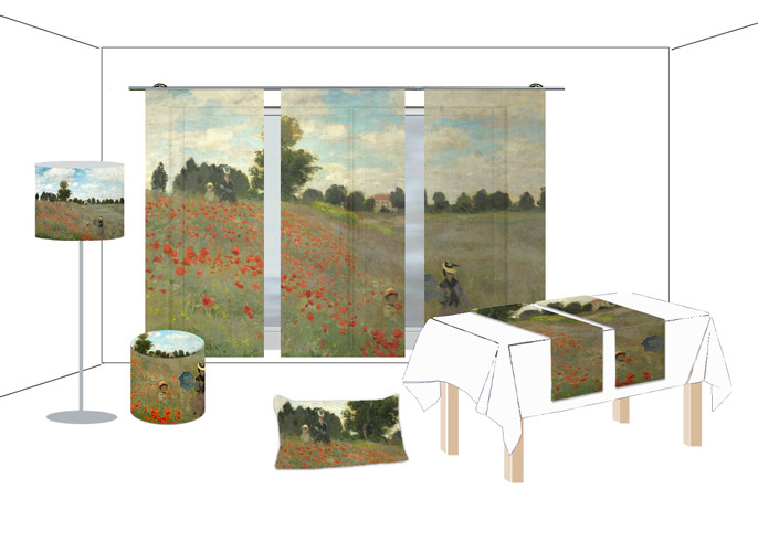Fotoprint-Heimtextil-Monet-Mohnfeld-neu-