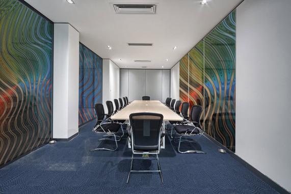 Konferenzraum Glaswand