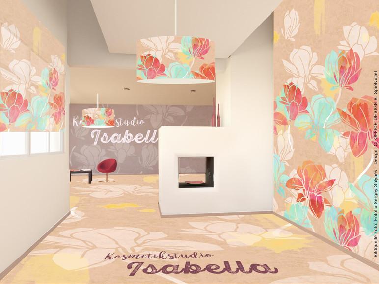 Flächen- & Produktgestaltung für Kosmetikstudio Isabella