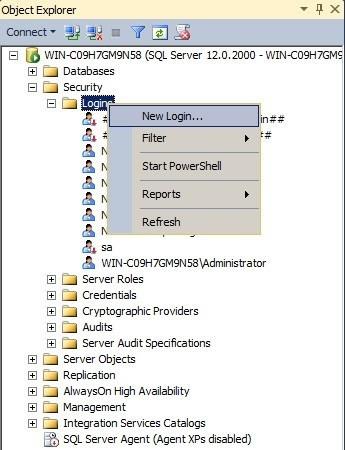 יצירת-משתמש-חדש-SSMS