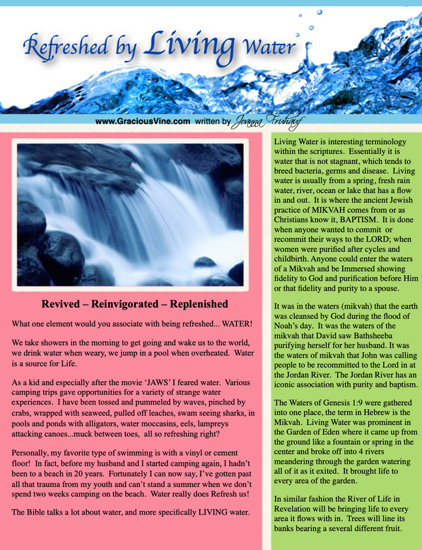 Refreshed by Living Water