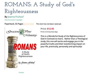 romans bible study joanna fruhauf