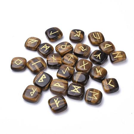 Tiger Eye Rune Set, Square