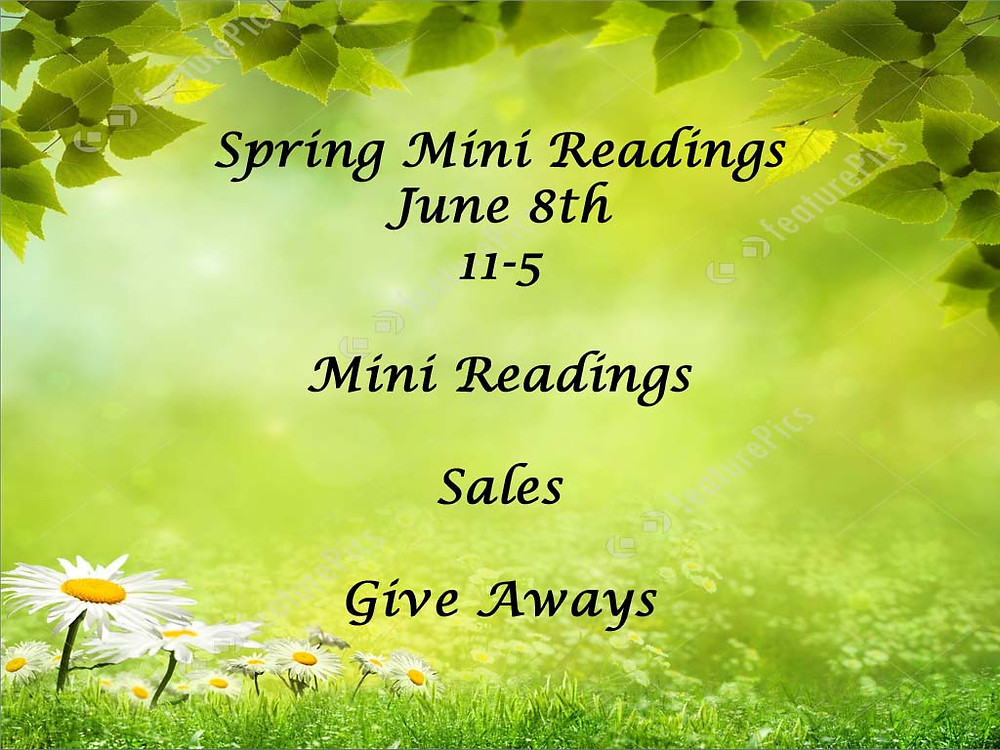 We will be having a Mini Reading day! Stop on in!