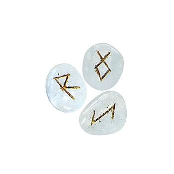 Quartz, Gold Lettering, Rune Set
